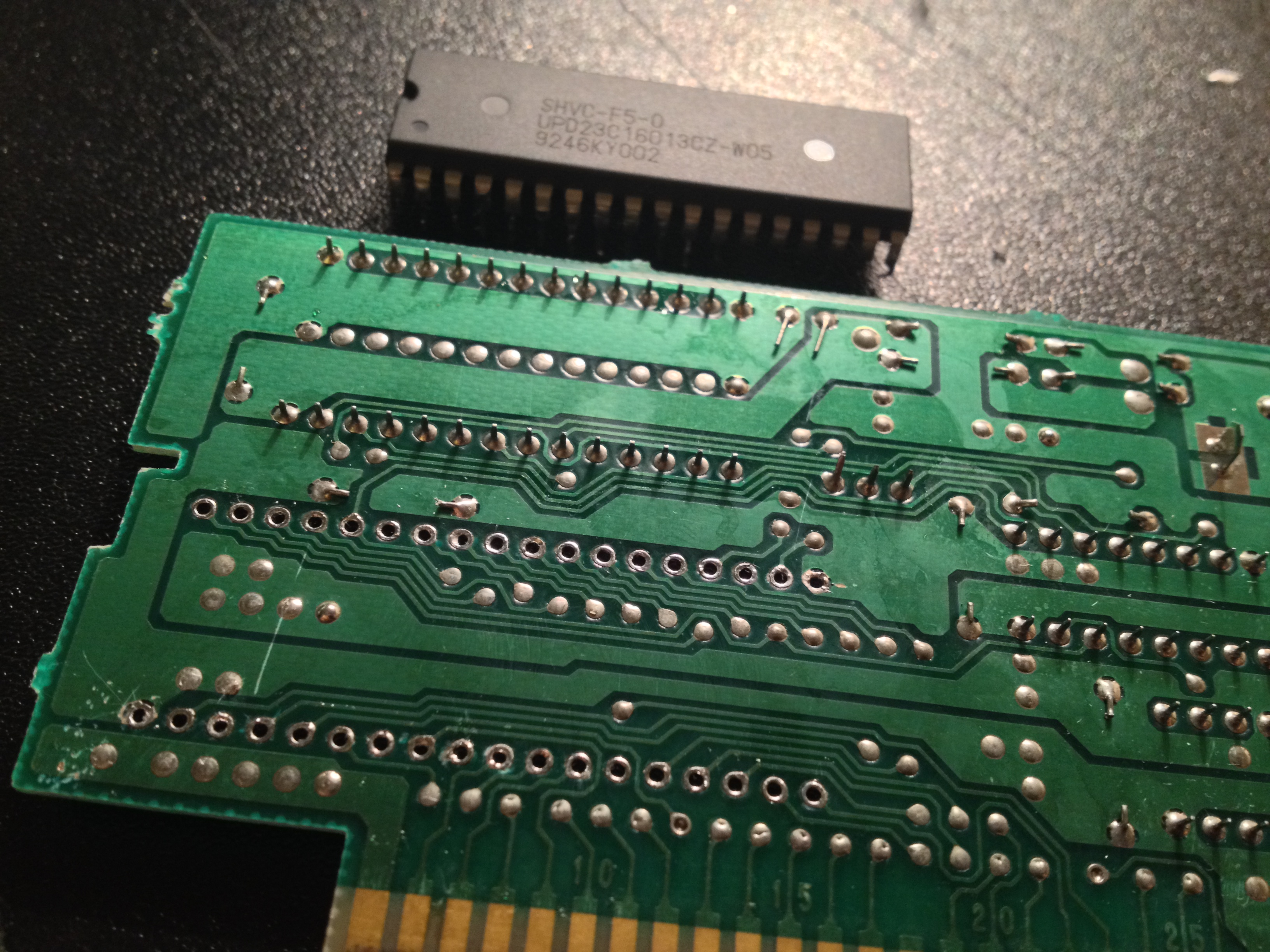Snes Reproduction Cart Tutorial Jaska Gaming Eprom Burner Card Circuit Diagram Old Mask Rom Removed After A Lot Of Pumping