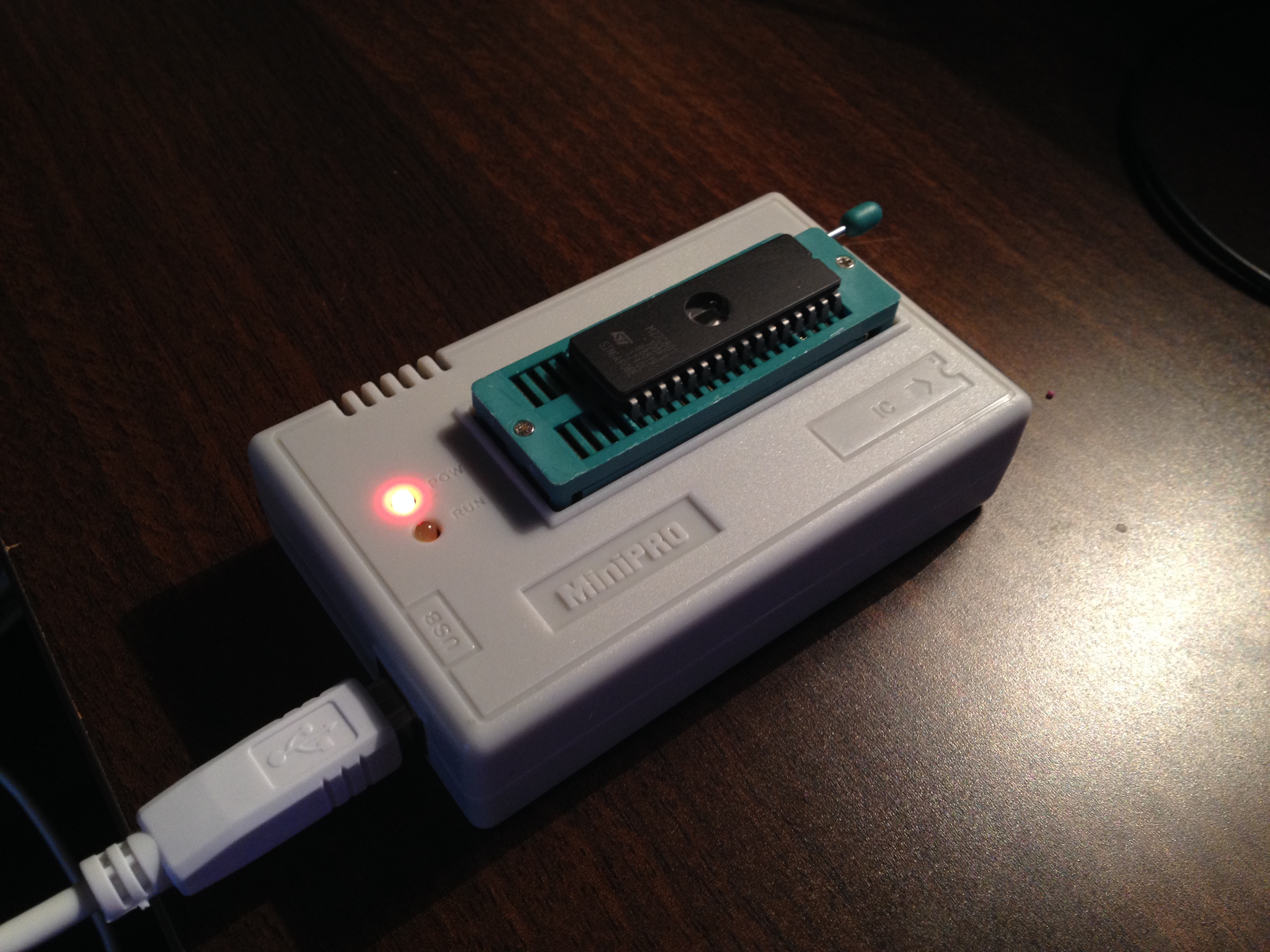 It's well worth investing in a small universal programmer